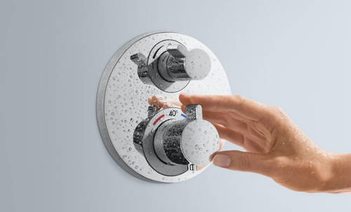 Additional image for Shower Set With Valve, Croma Head & Croma Select S Handset.