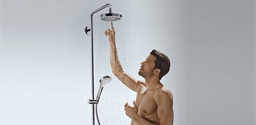 Additional image for Croma Select E 180 2 Jet Showerpipe Pack With Bath Spout.