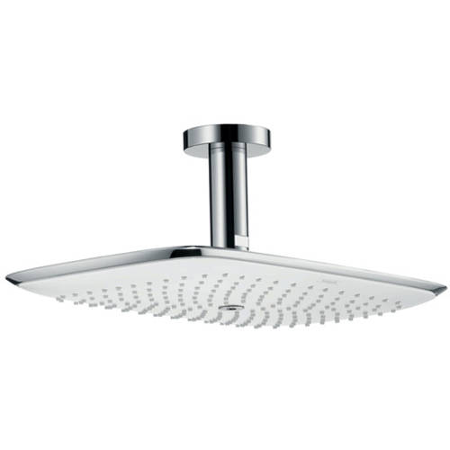 Additional image for PuraVida 400 Air 1 Jet Shower Head (390x260, White & Chrome).