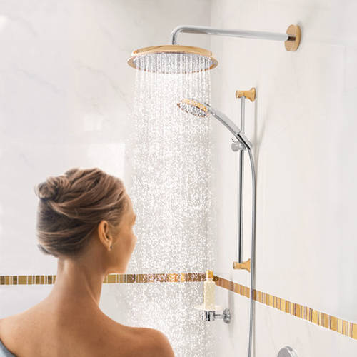 Additional image for Raindance Classic 240 Shower Head & Arm (Gold & Chrome).