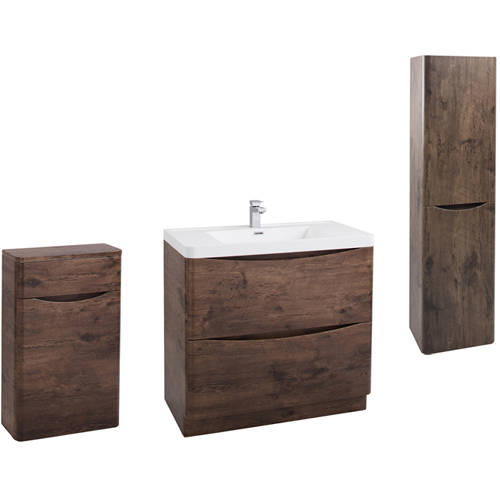 Additional image for Bali Bathroom Furniture Pack 09 (Chestnut).