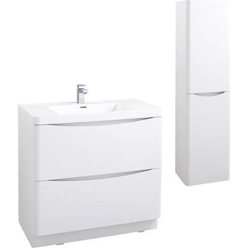 Additional image for Bali Bathroom Furniture Pack 02 (Gloss White).