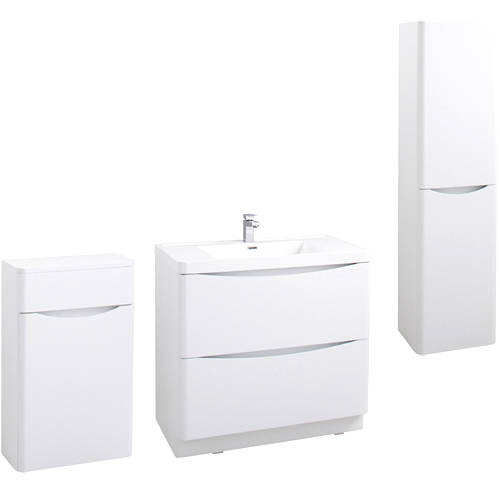 Additional image for Bali Bathroom Furniture Pack 09 (Gloss White).
