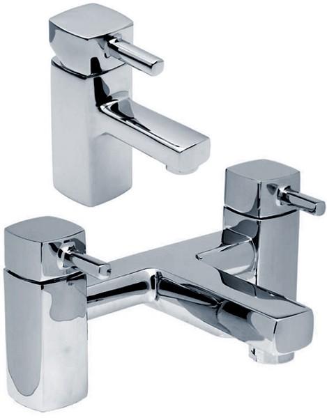 Additional image for Basin Mixer & Bath Filler Tap Set (Chrome).