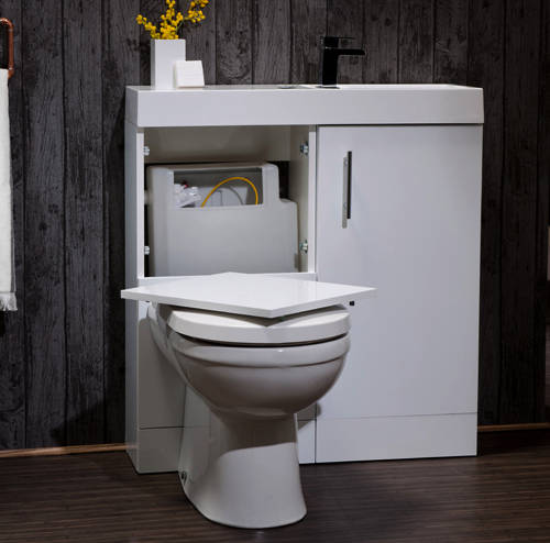 Additional image for Cube Plus Pack With White Vanity, BTW Unit & Basin (RH).