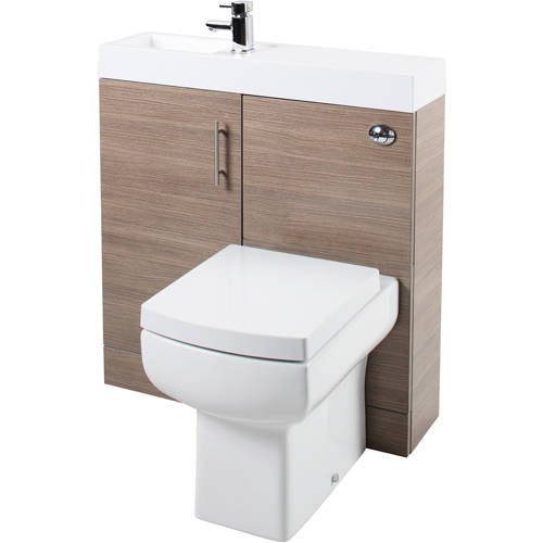 Additional image for Cube Plus Pack With Oak Vanity, BTW Unit & Basin (LH).