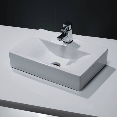 Additional image for Wall Hung Or Counter Top Basin 450x305mm (1 Tap Hole).