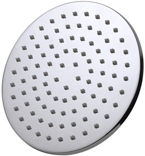 Additional image for Round Shower Head With Swivel Knuckle (200mm, Chrome).