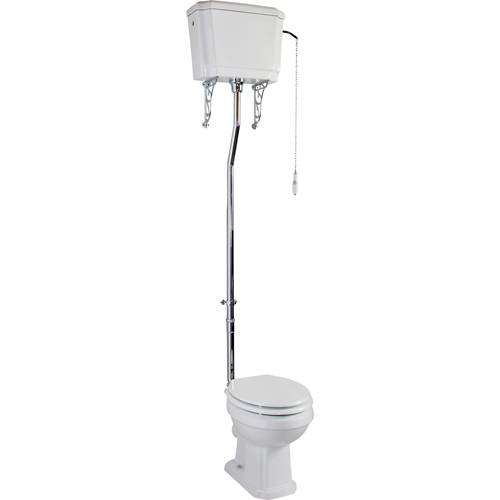 Additional image for Traditional High Level Cistern Flush Pipe Kit With Cistern Brackets.