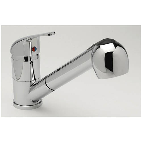 Additional image for Tessa Kitchen Mixer Tap With Pull Out Spray Rinser (Chrome).