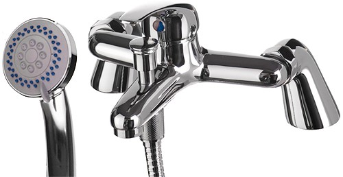 Additional image for Bath Shower Mixer Tap With Shower Kit (Chrome).