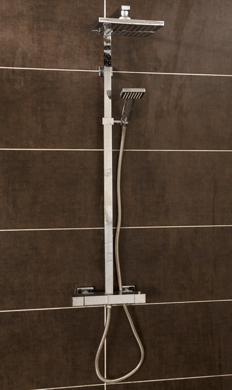 Additional image for Thermostatic Bar Shower Valve & Rigid Riser Set.