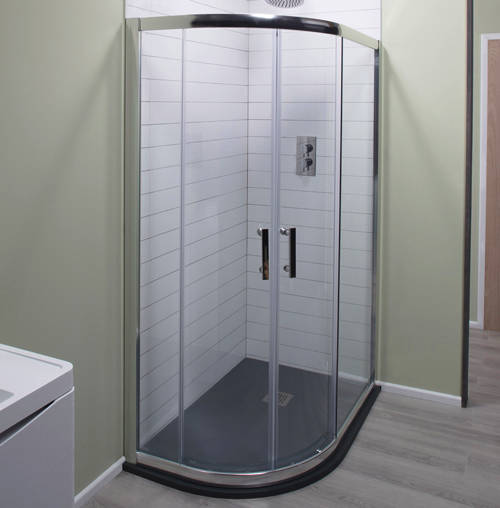 Additional image for 900x760mm Offset Quadrant Shower Enclosure, 6mm Glass (LH).