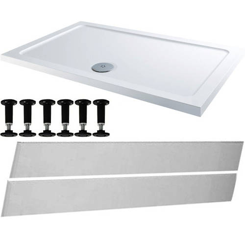 Additional image for Rectangular Easy Plumb Stone Resin Shower Tray 1600x800mm.