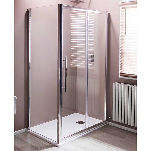 Additional image for 1200x760mm Shower Enclosure With Sliding Door (8mm Glass).