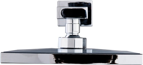 Additional image for Square Shower Head & Wall Mounting Arm (Chrome).