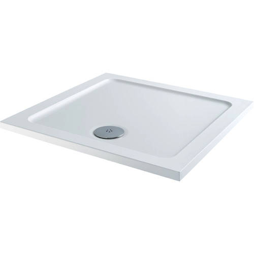 Additional image for Square Stone Resin Shower Tray & Waste 900x900mm (Low Profile).
