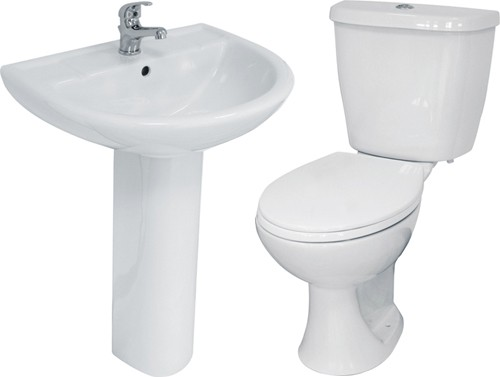 Additional image for 4 Piece Bathroom Suite With Toilet & Basin (1 Tap Hole).