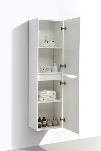 Additional image for Wall Mounted Bathroom Storage Unit (White Ash).