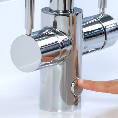 Additional image for 4N1 J Shape Steaming Hot Kitchen Tap (Brushed Steel).