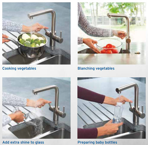 Additional image for Boiling Hot & Cold Water Kitchen Tap (Chrome).