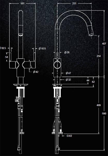 Additional image for 3N1 J Shape Steaming Hot Kitchen Tap (Rose Gold).