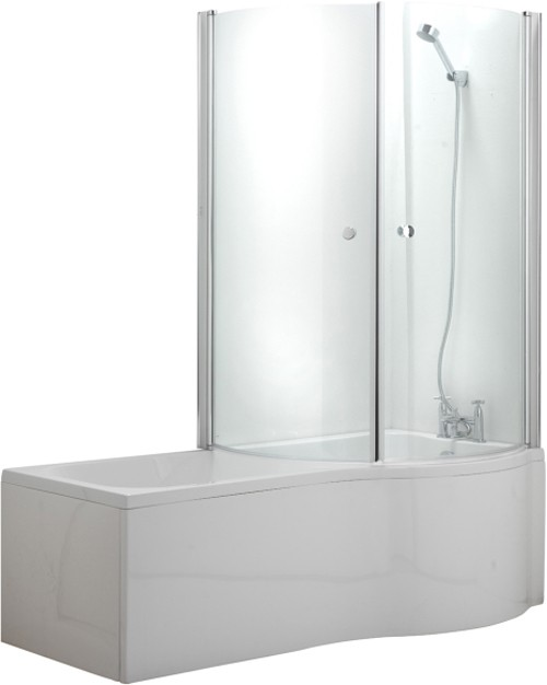 Additional image for Complete Shower Bath With Screen & Door (Right Hand). 1500x750mm.
