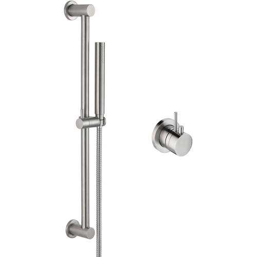 Additional image for Thermostatic Shower Valve & Slide Rail Kit (Stainless Steel).