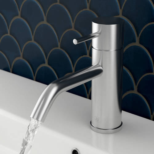 Additional image for Single Lever Basin Mixer Tap (Stainless Steel).