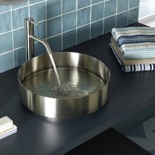 Additional image for Tall Basin Mixer Tap (Stainless Steel).