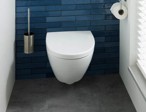 Additional image for Wall Mounted Toilet Brush & Holder (Stainless Steel).