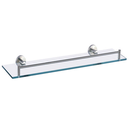 Additional image for Glass Shelf With Rail (520mm, Stainless Steel).