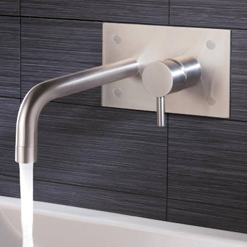 Additional image for Wall Mounted Basin Mixer Tap (152mm, Stainless Steel).
