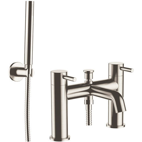 Additional image for Bath Shower Mixer Tap With Kit (Stainless Steel).