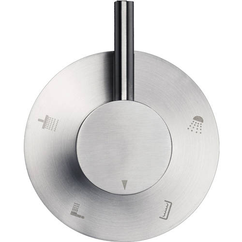 Additional image for 4 Way Shower Diverter Valve (Stainless Steel).