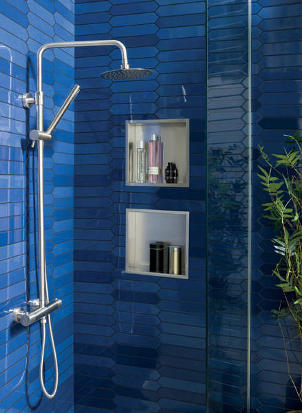 Additional image for Rigid Riser Kit With Thermostatic Shower Valve (Stainless Steel).