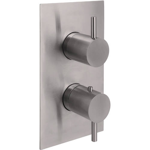 Additional image for Concealed Thermostatic Shower Valve (2 Outlets, Stainless Steel).
