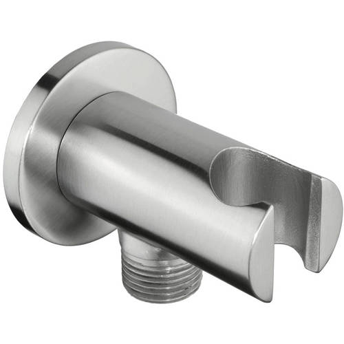 Additional image for Shower Wall Outlet Elbow  With Handset Holder (Stainless Steel).