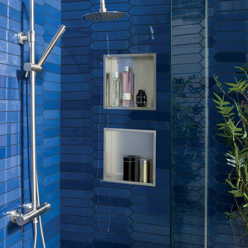 Additional image for Shower Niche (600x300mm, Stainless Steel).