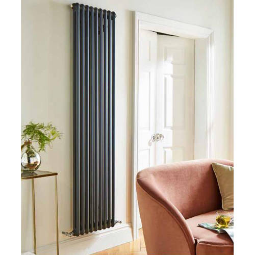 Additional image for Laser Klassic Vertical Radiator 515x1800mm (2 Col, Anthr).