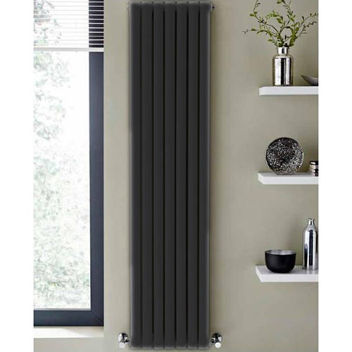 Additional image for Aspen Radiator 300W x 1800H mm (Double, Anthracite).