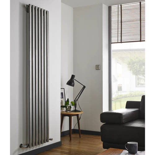 Additional image for Aspen Radiator 450W x 1800H mm (Single, Stainless Steel).
