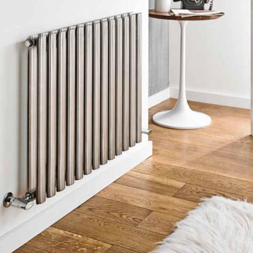 Additional image for Aspen Radiator 970W x 600H mm (Double, Stainless Steel).