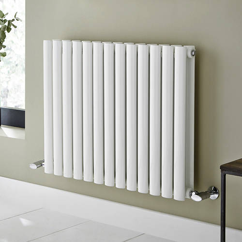 Additional image for Aspen Radiator 360W x 600H mm (Double, White).