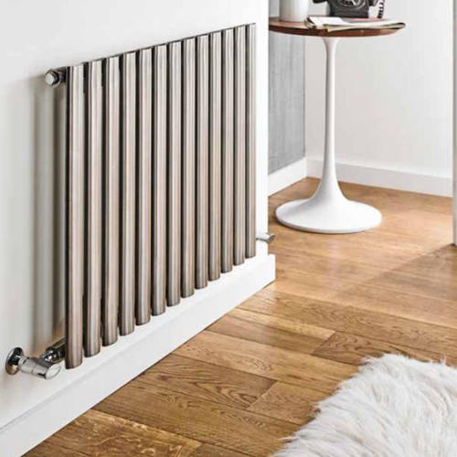 Additional image for Aspen Radiator 800W x 600H mm (Single, Stainless Steel).