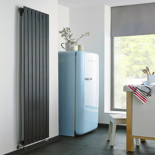 Additional image for Boston Vertical Radiator 410W x 1200H mm (Anthracite).