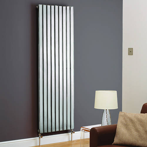Additional image for Boston Vertical Radiator 480W x 1200H mm (Chrome).