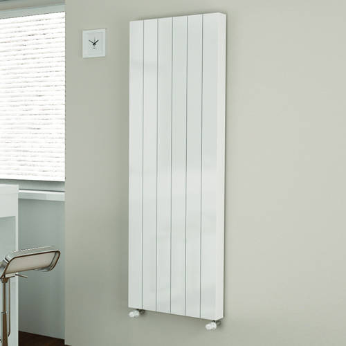 Additional image for Premium Kompact Vertical Radiator 300x1800mm (DC, White).