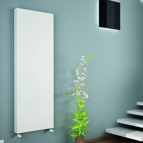 Additional image for Kompact Vertical Radiator 400x2000mm (DC, White).