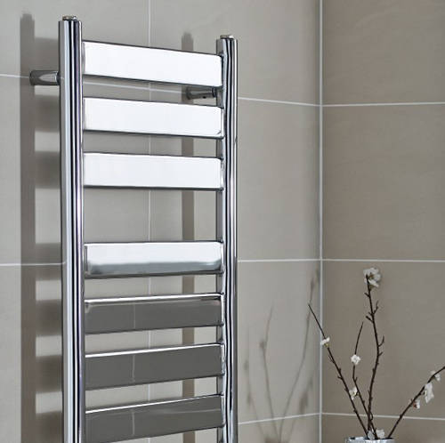 Additional image for Newark Heated Towel Rail 500W x 952H mm (Chrome).